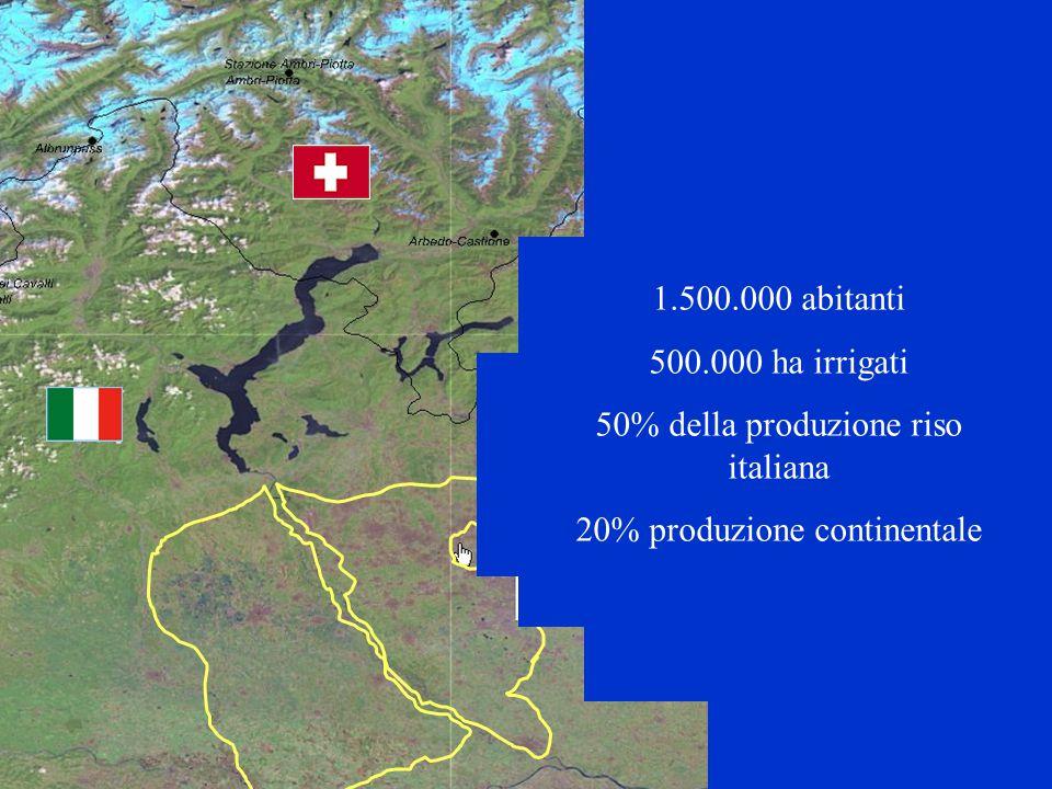 R. Soncini-Sessa, MODSS, 2006 4 1.500.000 abitanti 500.000 ha irrigati 50% della produzione riso italiana 20% produzione continentale