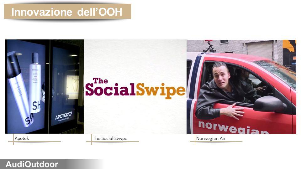ApotekThe Social SwypeNorwegian Air Innovazione dell'OOH