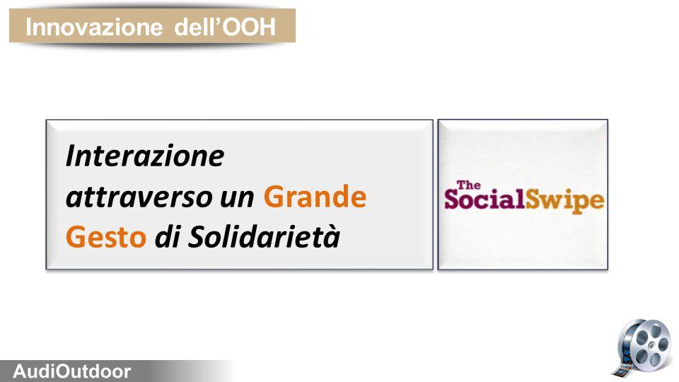 Innovazione dell'OOH Interazione attraverso un Grande Gesto di Solidarietà