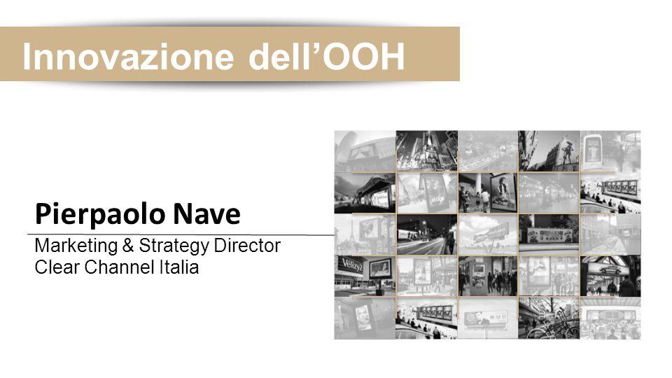 Innovazione dell'OOH Principali evidenze:  Prodotti ad alto Impatto Emotivo  Valorizzazione Estetica e Funzionale dell'ambiente  Piacevolezza ed Intrattenimento nelle attese e passaggi