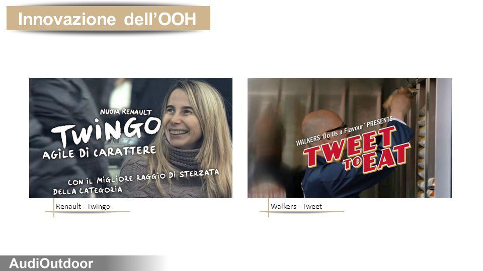 Walkers - TweetRenault - Twingo Innovazione dell'OOH