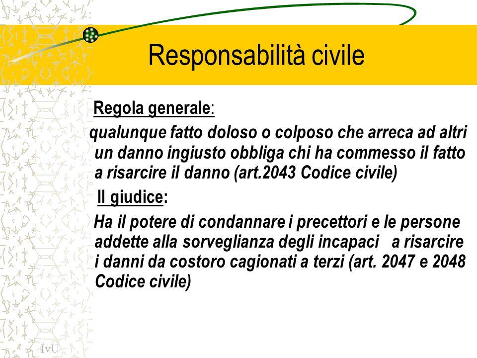 L'art.28 della Costituzione Estende la responsabilità civile per i fatti cagionati da funzionari anche allo Stato e agli enti pubblici consentendo al danneggiato di rivolgersi direttamente all'Amministrazione per ottenere il risarcimento del danno subito IvU