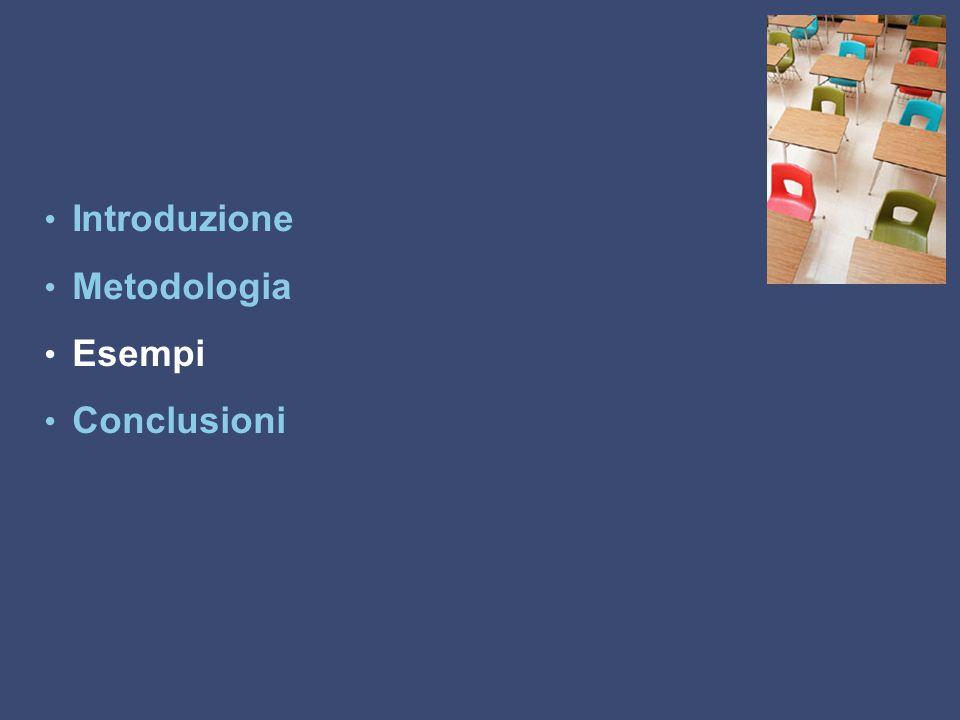 Introduzione Metodologia Esempi Conclusioni