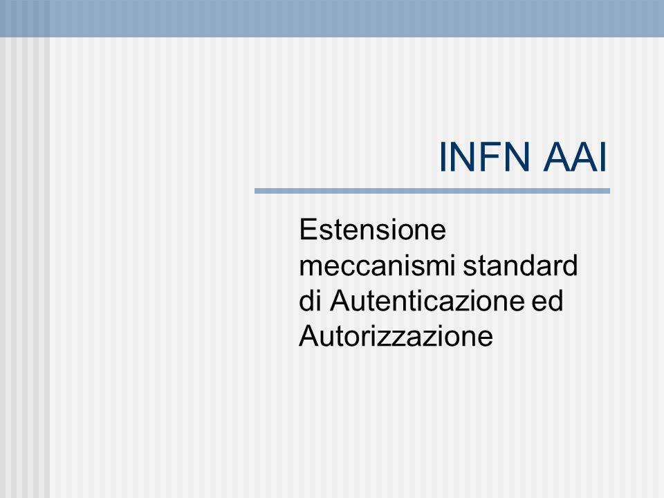 INFN AAI Estensione meccanismi standard di Autenticazione ed Autorizzazione