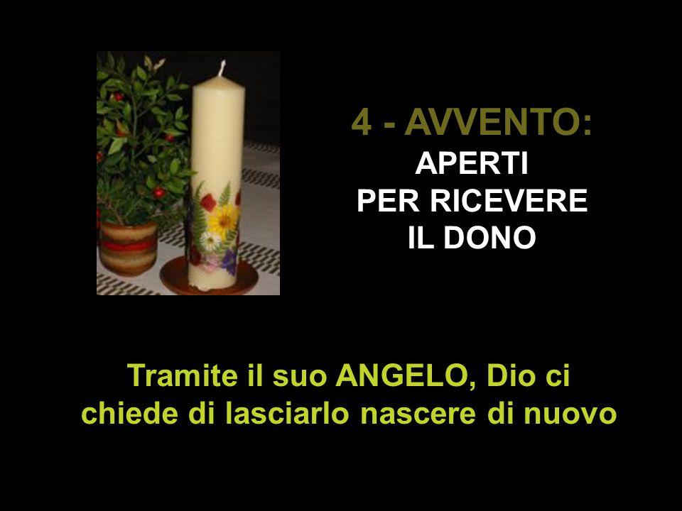 4 - AVVENTO: APERTI PER RICEVERE IL DONO Tramite il suo ANGELO, Dio ci chiede di lasciarlo nascere di nuovo