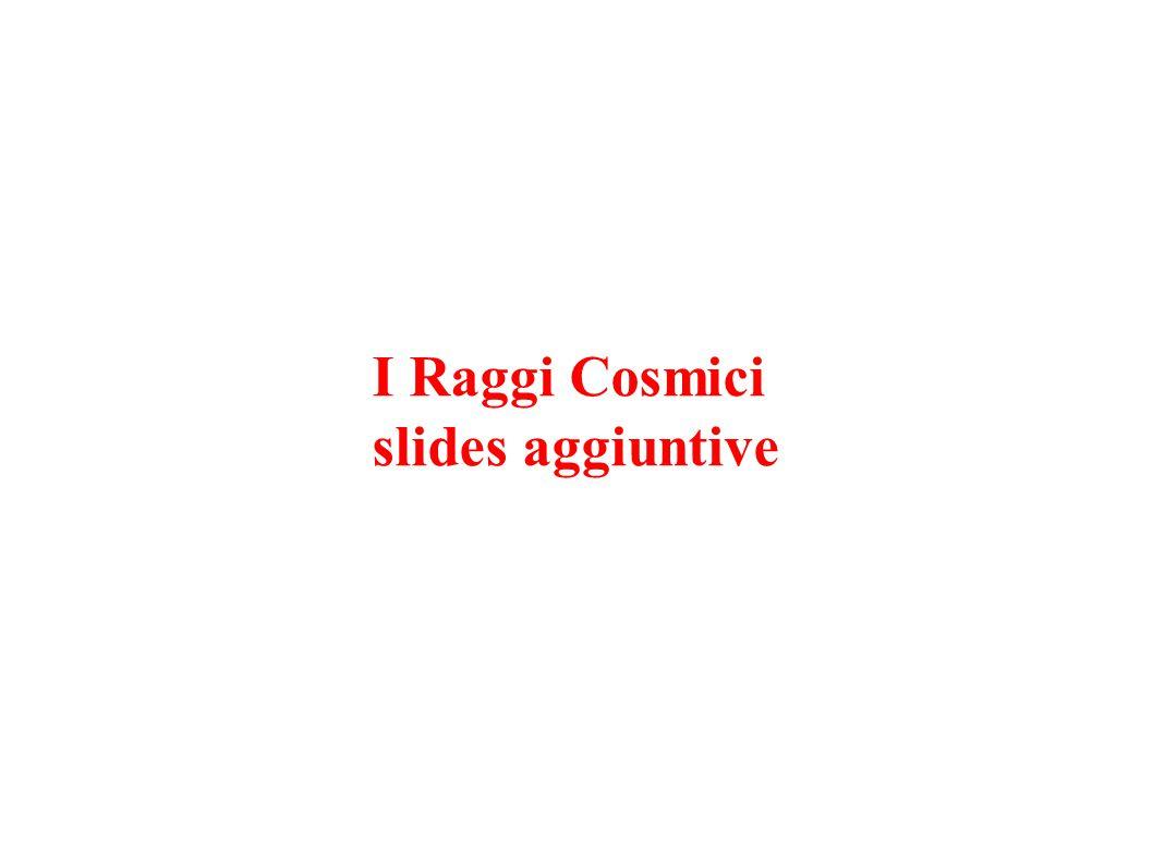 I Raggi Cosmici slides aggiuntive