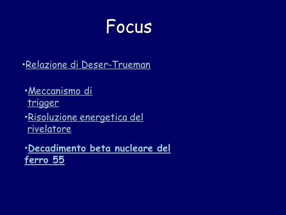 Focus Relazione di Deser-TruemanRelazione di Deser-TruemanRelazione di Deser-TruemanRelazione di Deser-Trueman Meccanismo di triggerMeccanismo di trig