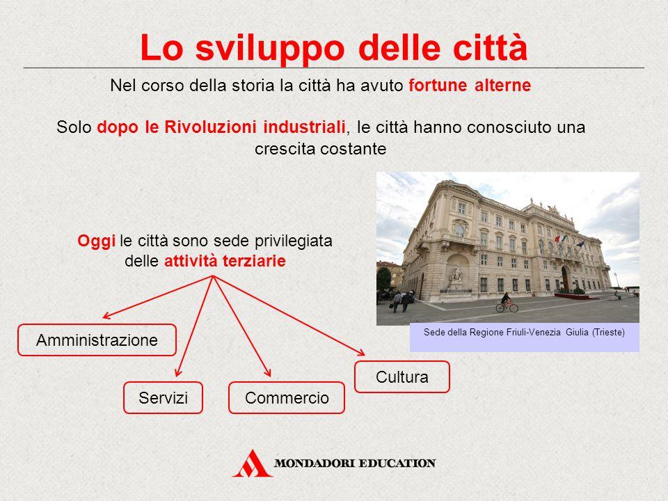 Lo sviluppo delle città Nel corso della storia la città ha avuto fortune alterne Solo dopo le Rivoluzioni industriali, le città hanno conosciuto una c