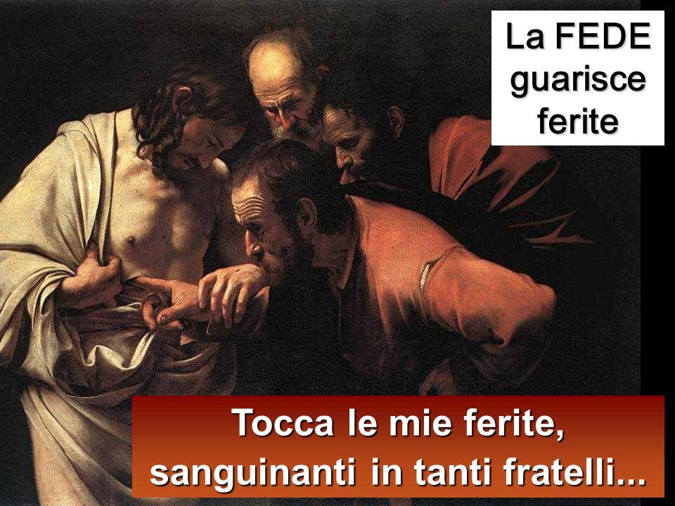 Otto giorni dopo i discepoli erano di nuovo in casa e c'era con loro anche Tommaso. Venne Gesù, a porte chiuse, stette in mezzo e disse: «Pace a voi!»