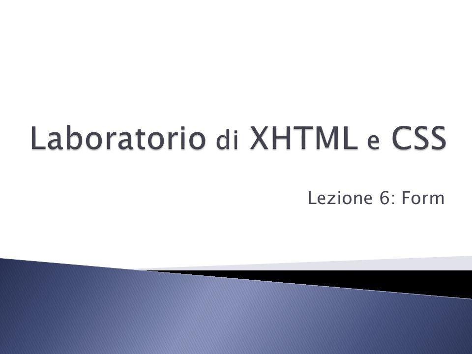  In alcuni documenti HTML può essere utile creare dei moduli (form) che possono essere riempiti da chi consulta le pagine stesse (es.