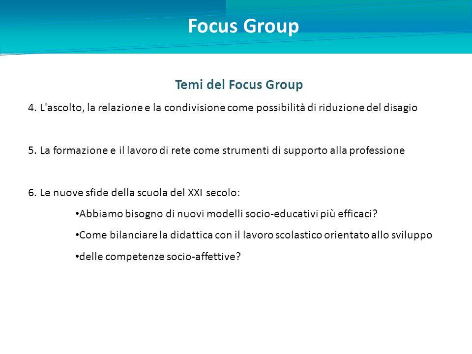 Temi del Focus Group 4.