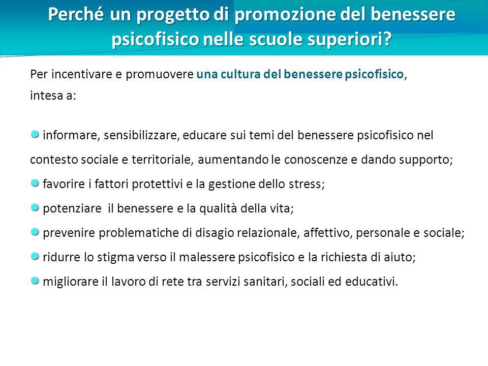 Perché un progetto di promozione del benessere psicofisico nelle scuole superiori.