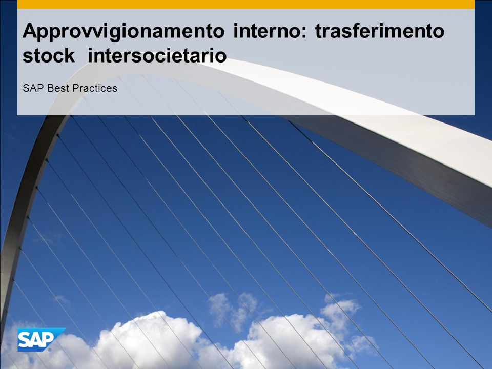 Approvvigionamento interno: trasferimento stock intersocietario SAP Best Practices