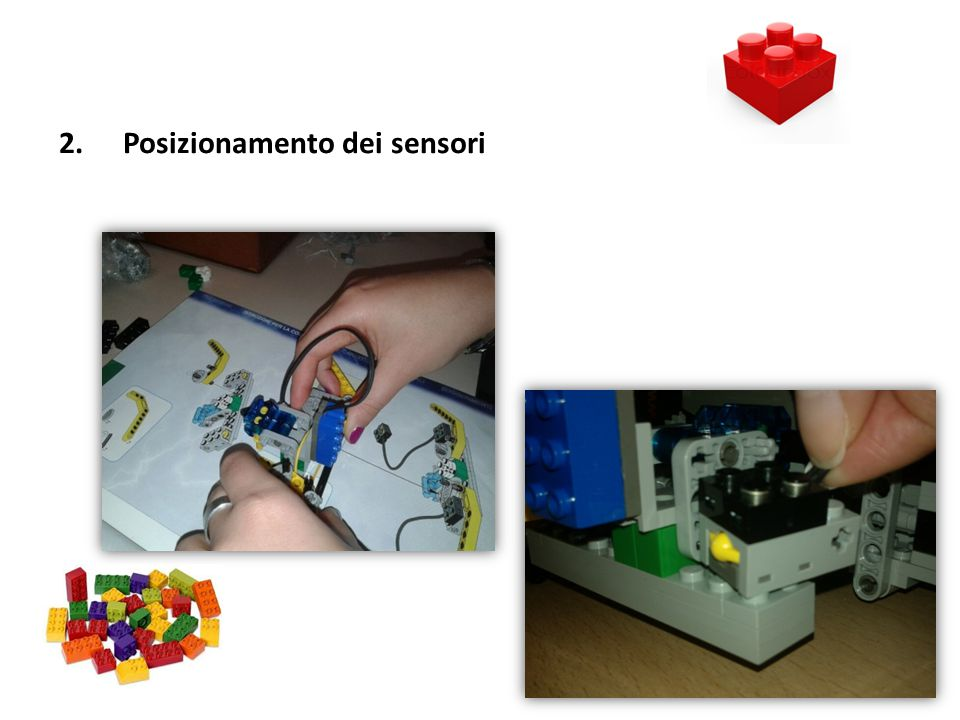 2.Posizionamento dei sensori