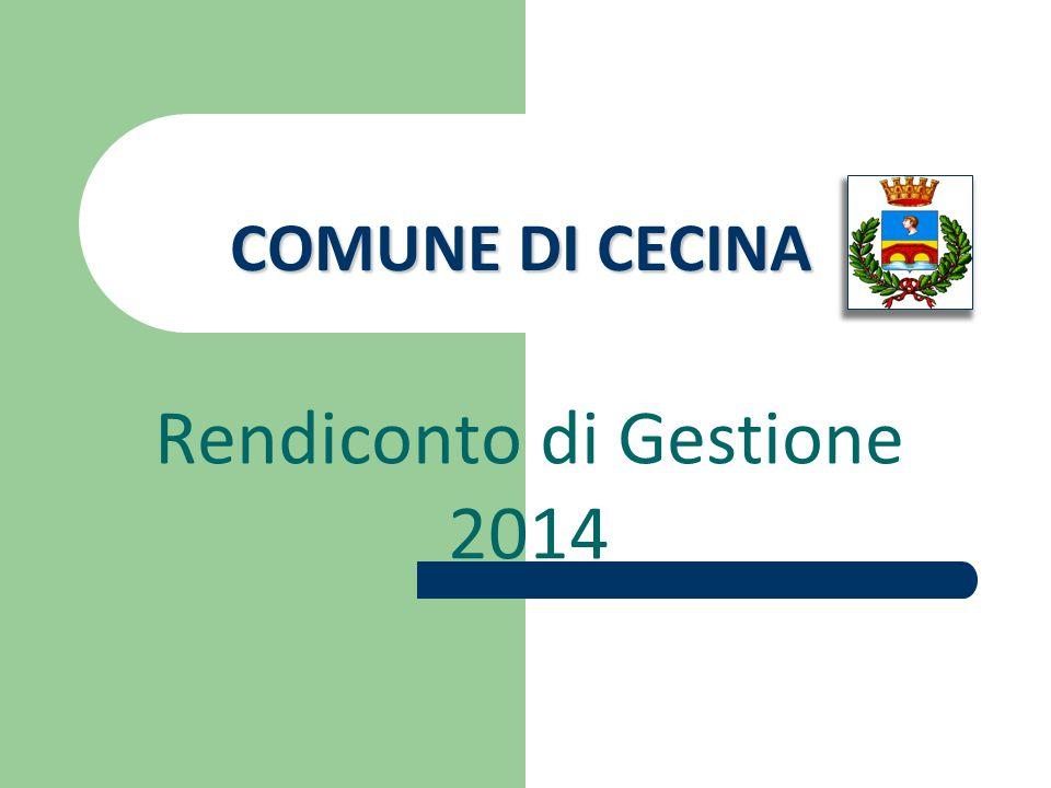 COMUNE DI CECINA Rendiconto di Gestione 2014