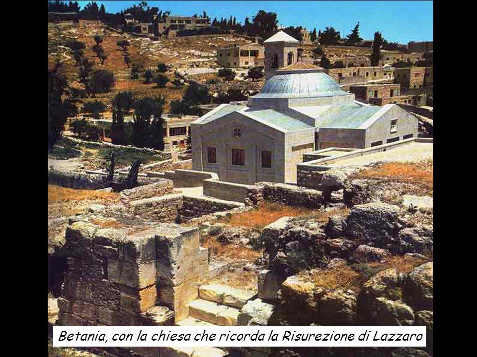 Betania, con la chiesa che ricorda la Risurezione di Lazzaro