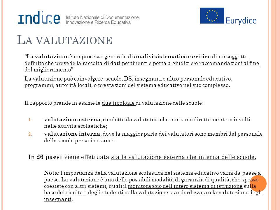 """L A VALUTAZIONE """"La valutazione è un processo generale di analisi sistematica e critica di un soggetto definito che prevede la raccolta di dati pertin"""