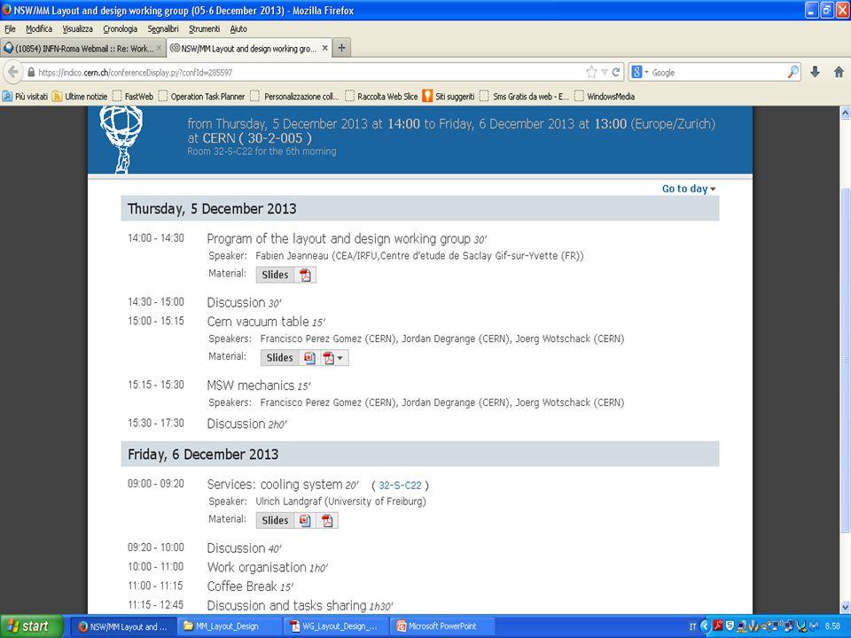 - Repository su CDD (CERN DRAWING Directory) dei disegni.
