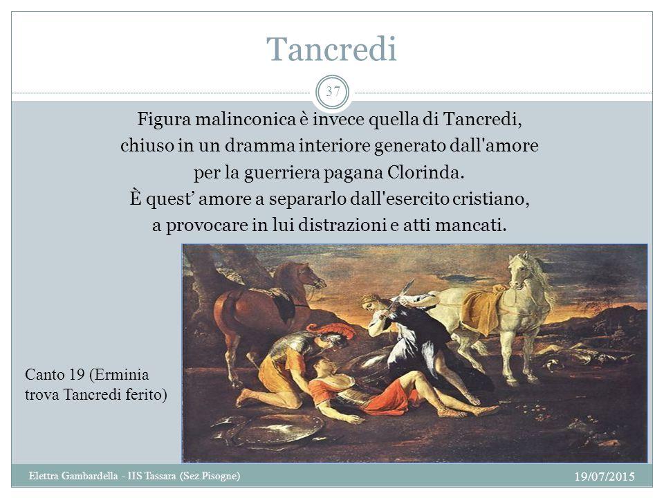 Tancredi Figura malinconica è invece quella di Tancredi, chiuso in un dramma interiore generato dall'amore per la guerriera pagana Clorinda. È quest'
