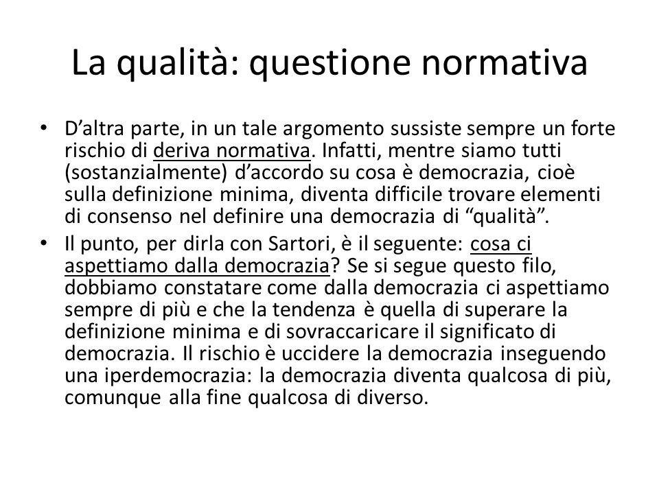Bobbio e Sartori Niente rischia di uccidere la democrazia più che l'eccesso di democrazia (N.