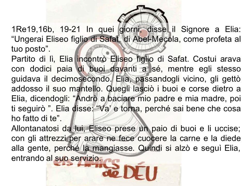 Anno C Domenica XIII tempo ordinario Domenica XIII tempo ordinario 1 luglio 2007 Columbe simplicitas (3') della liturgia ebrea, evoca la risposta alla vocazione