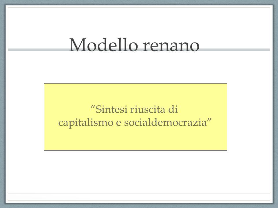 """Modello renano """"Sintesi riuscita di capitalismo e socialdemocrazia"""""""