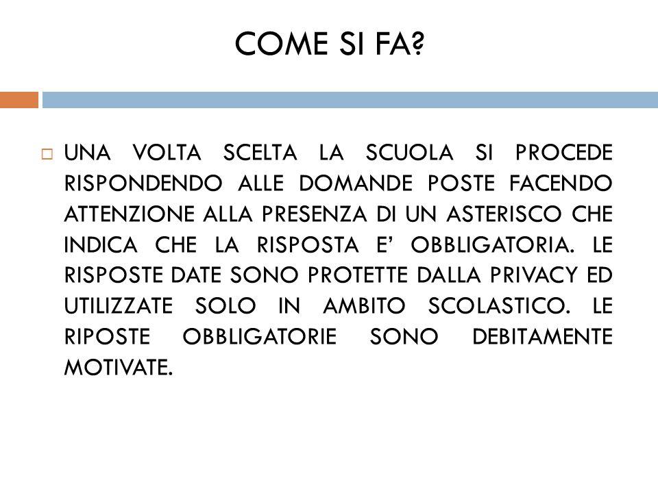 COME SI FA.