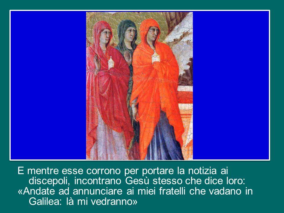 In questo Lunedì dopo Pasqua il Vangelo (cfr Mt 28,8-15) ci presenta il racconto delle donne che, recatesi al sepolcro di Gesù, lo trovano vuoto e vedono un Angelo che annuncia loro che Egli è risorto.