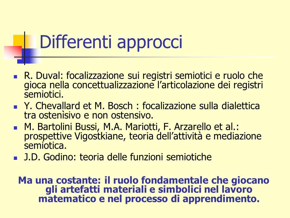 Differenti approcci R.