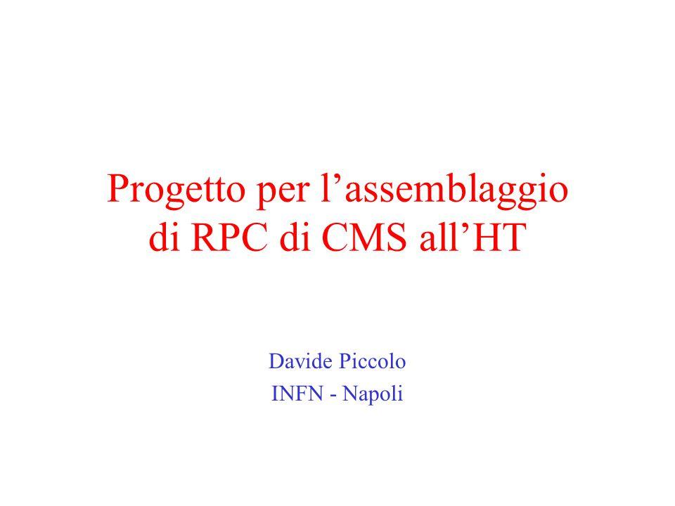 Progetto per l'assemblaggio di RPC di CMS all'HT Davide Piccolo INFN - Napoli