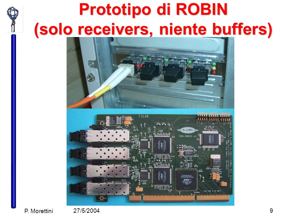 27/5/2004 P. Morettini 9 Prototipo di ROBIN (solo receivers, niente buffers)