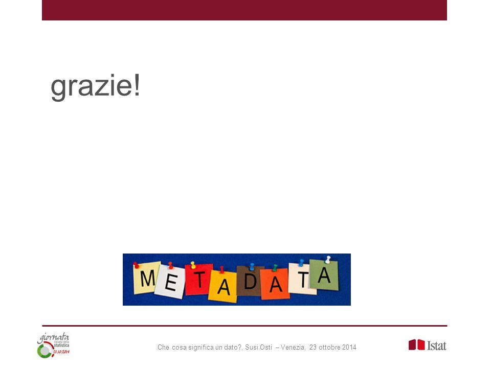 Che cosa significa un dato?, Susi Osti – Venezia, 23 ottobre 2014 grazie!