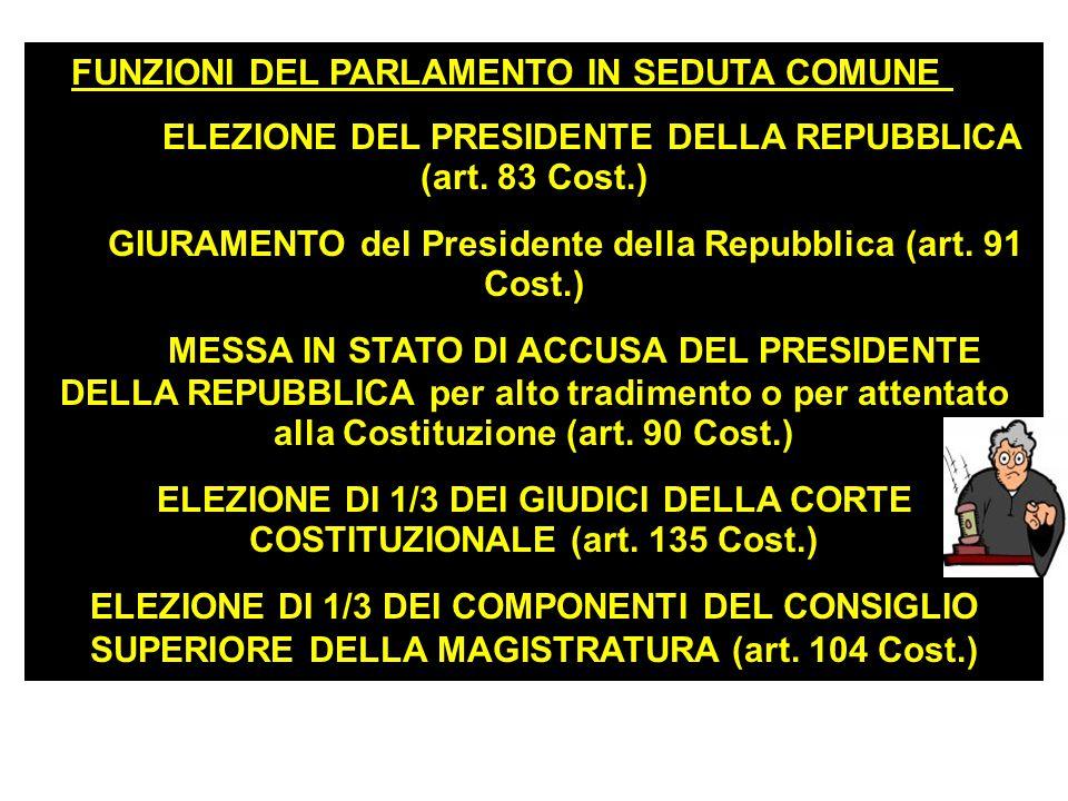 LE FUNZIONI DEL PARLAMENTO Funzione legislativa Funzione di indirizzo politico con il Governo Funzione di controllo del Governo Funzioni del Parlament