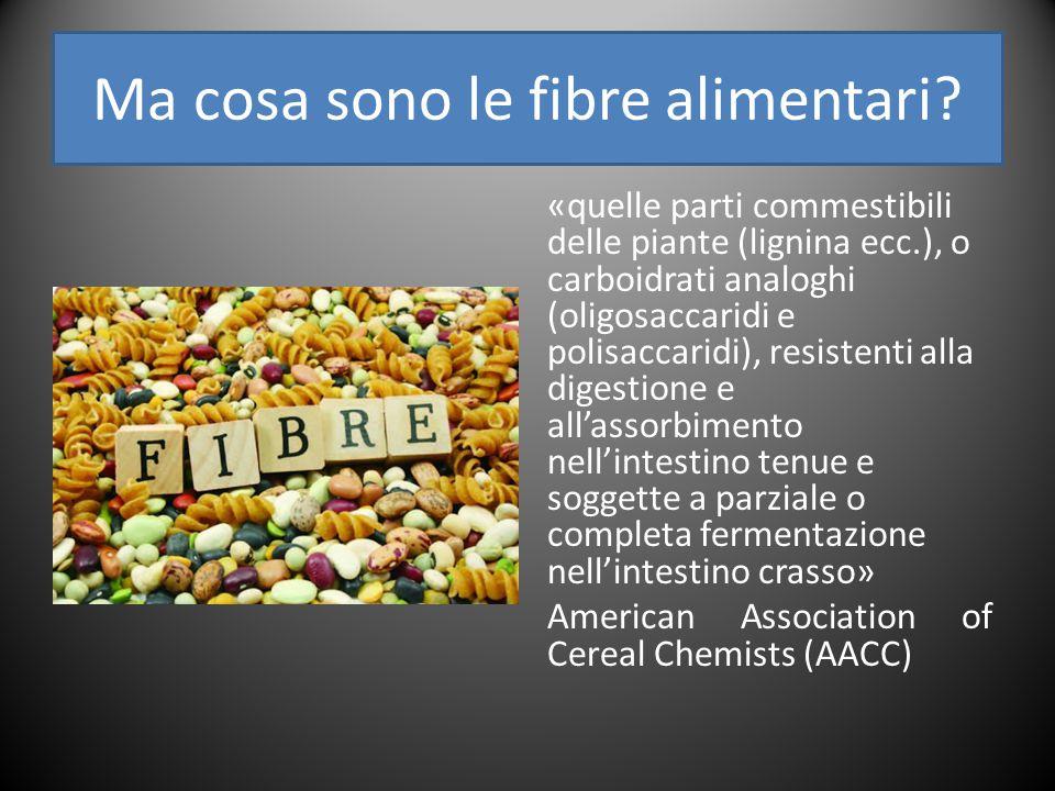 Ma cosa sono le fibre alimentari.