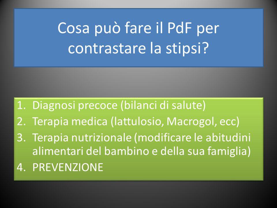 Cosa può fare il PdF per contrastare la stipsi.