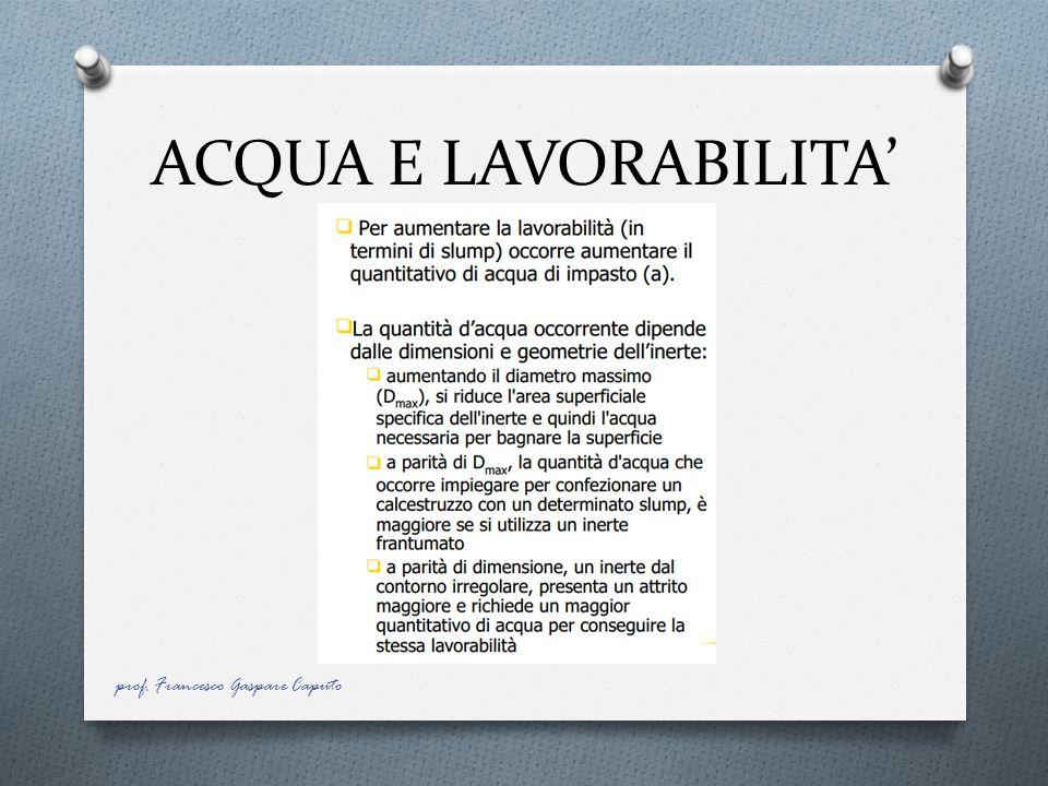 ACQUA E LAVORABILITA' prof. Francesco Gaspare Caputo