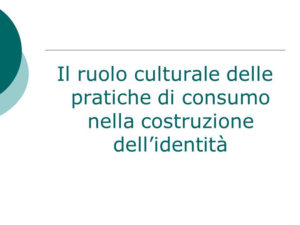 Il ruolo culturale delle pratiche di consumo nella costruzione dell'identità
