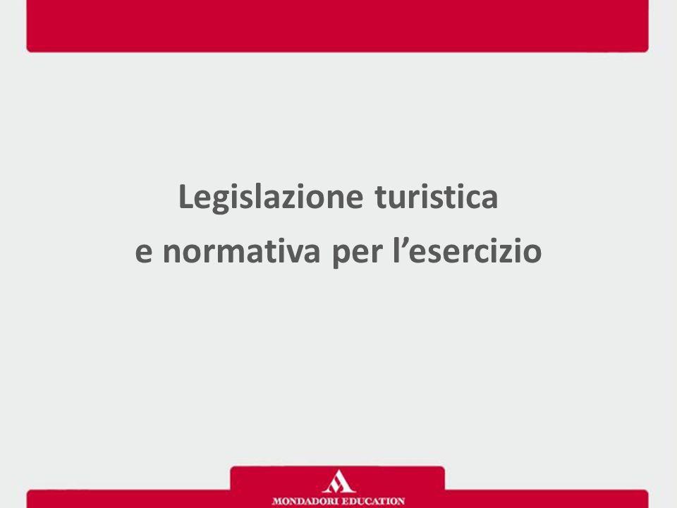 Legislazione turistica e normativa per l'esercizio