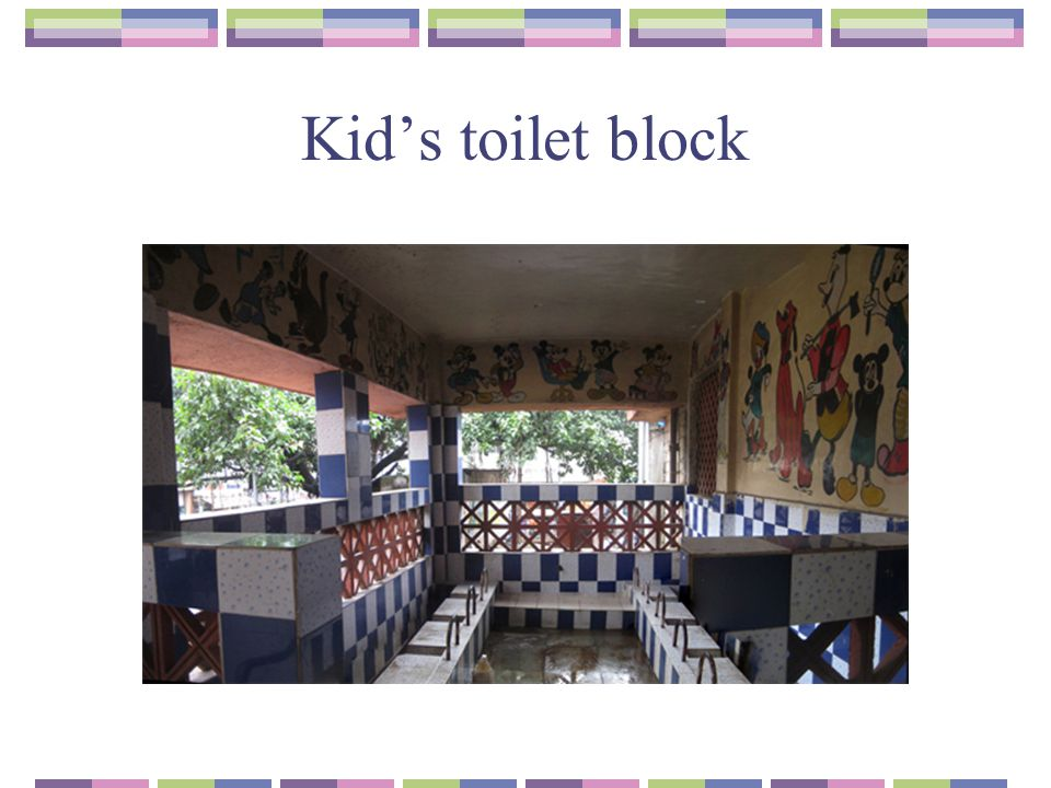 Kid's toilet block