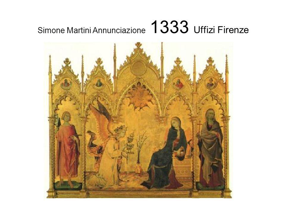 Simone Martini Annunciazione 1333 Uffizi Firenze