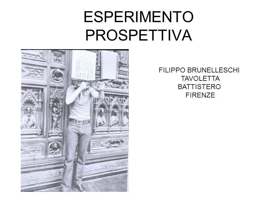 ESPERIMENTO PROSPETTIVA FILIPPO BRUNELLESCHI TAVOLETTA BATTISTERO FIRENZE
