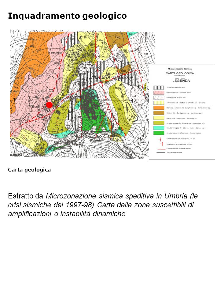 Profili di V s e V p Indagini geofisiche