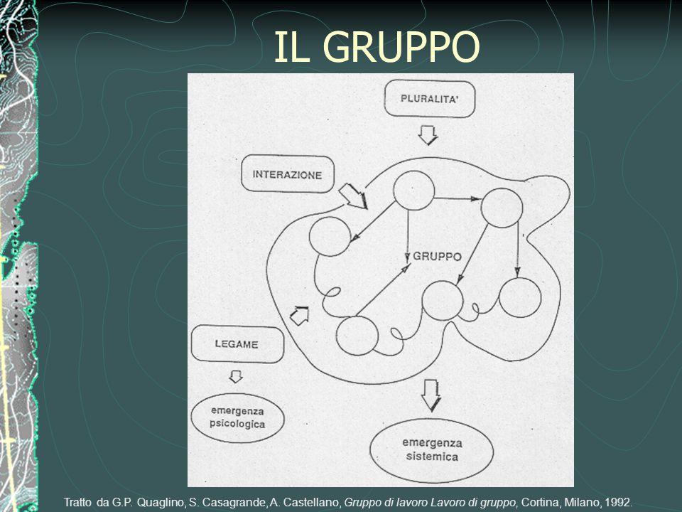 IL GRUPPO Tratto da G.P. Quaglino, S. Casagrande, A. Castellano, Gruppo di lavoro Lavoro di gruppo, Cortina, Milano, 1992.