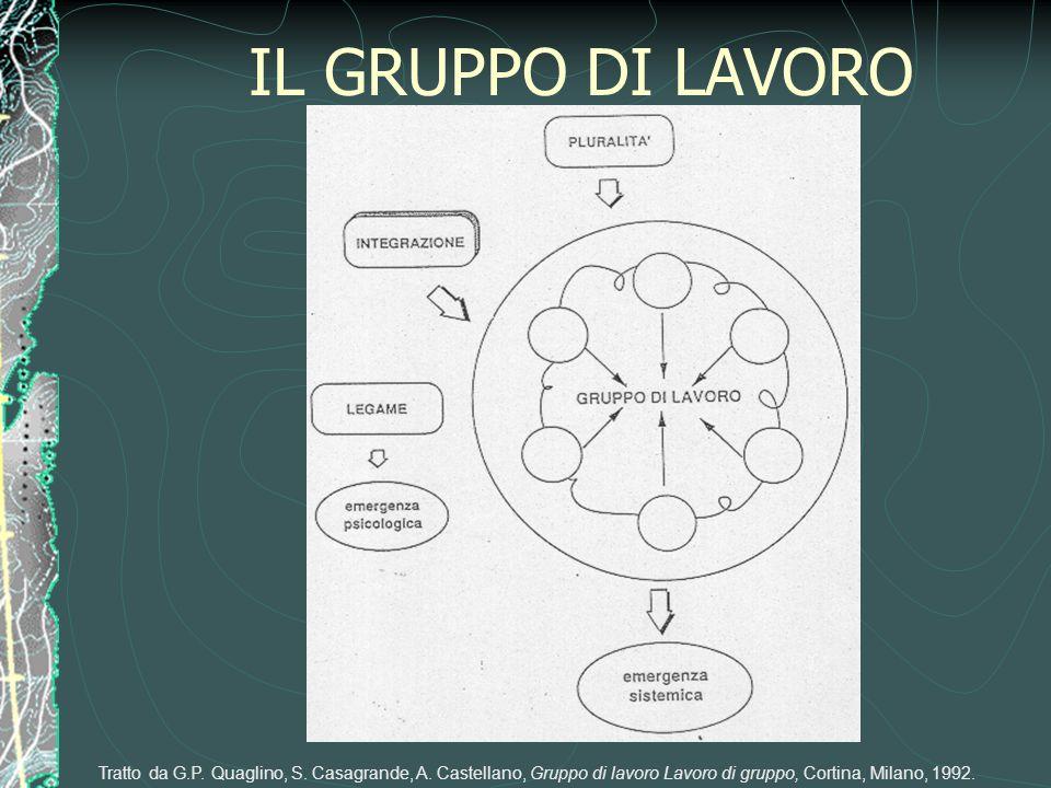 IL GRUPPO DI LAVORO Tratto da G.P. Quaglino, S. Casagrande, A. Castellano, Gruppo di lavoro Lavoro di gruppo, Cortina, Milano, 1992.