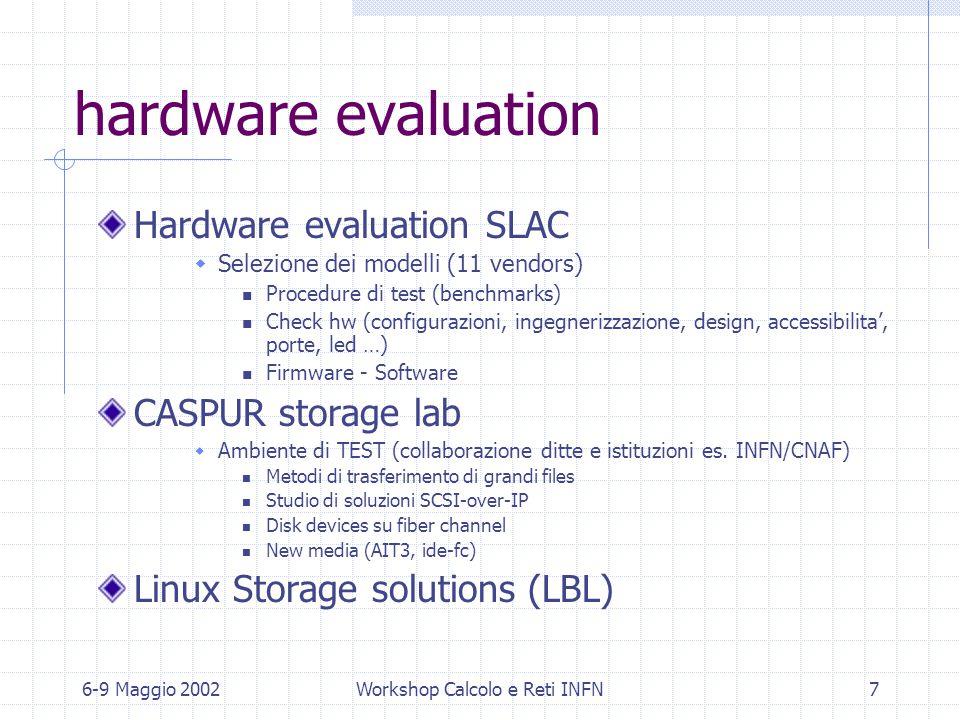 6-9 Maggio 2002Workshop Calcolo e Reti INFN8 Spring 2002 monitoring Netsaint (presentazione G.