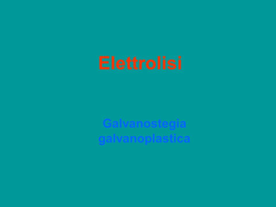 Elettrolisi Galvanostegia galvanoplastica
