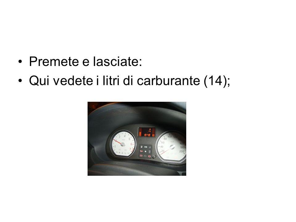 Premete e lasciate: Qui vedete i litri di carburante (14);