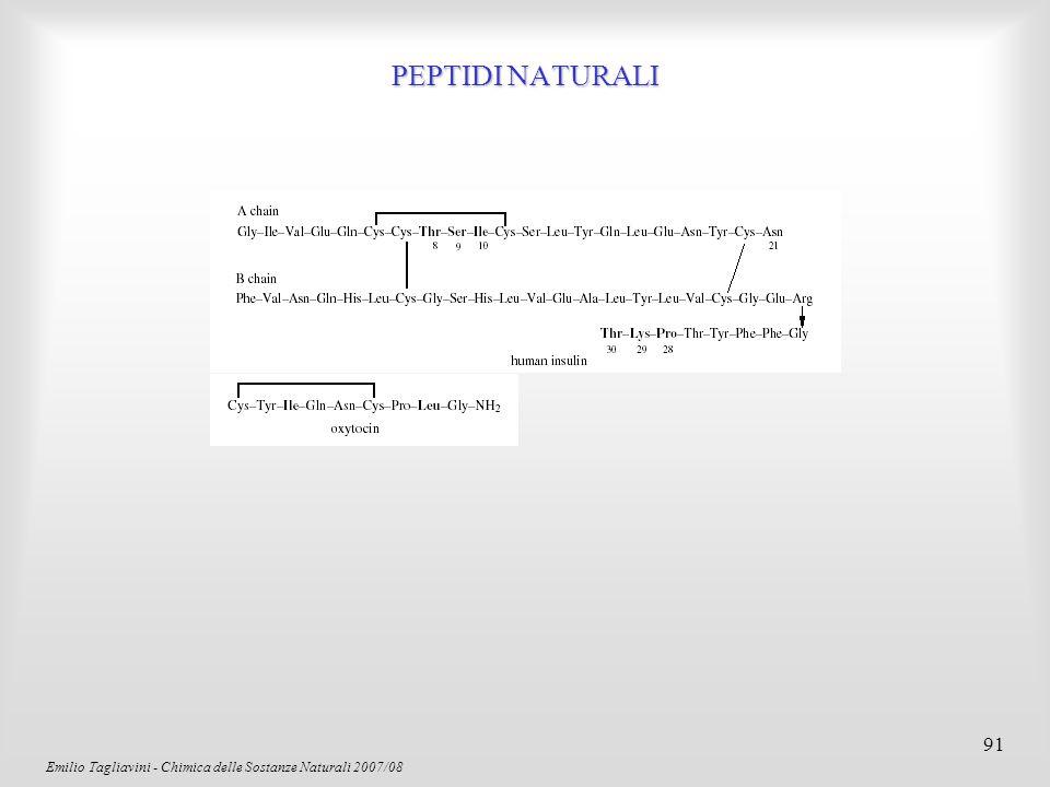 Emilio Tagliavini - Chimica delle Sostanze Naturali 2007/08 92 ANTIBIOTICI  -LATTAMICI: PENNICILLINE