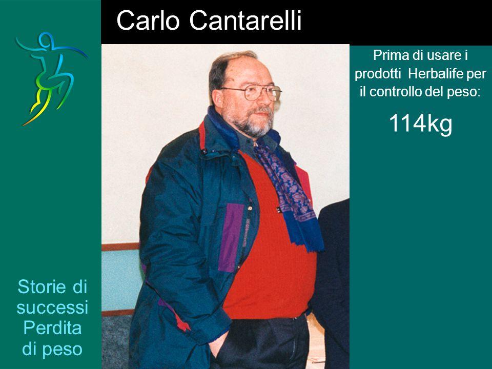 Storie di successi Perdita di peso Prima di usare i prodotti Herbalife per il controllo del peso: 114kg Carlo Cantarelli