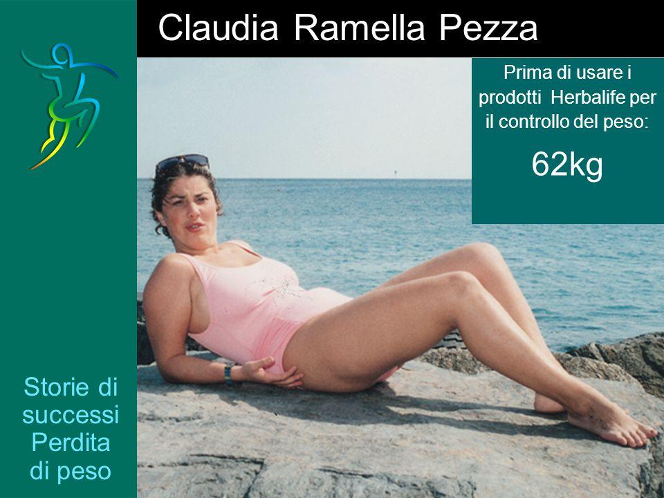 Storie di successi Perdita di peso Claudia Ramella Pezza Prima di usare i prodotti Herbalife per il controllo del peso: 62kg